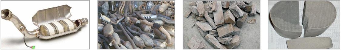 废汽车三元催化剂再利用生产线适用物料